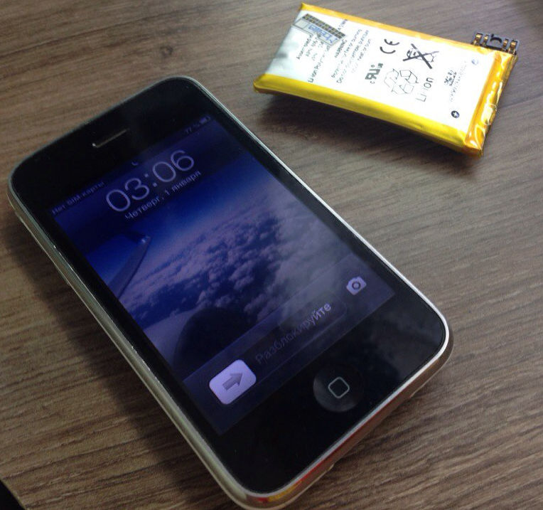 аккумулятор на iPhone 3