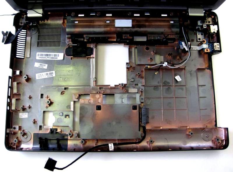 разборка и чистка hp cq56