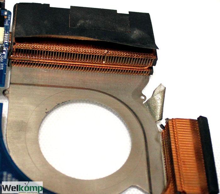 чистый радиатор ноутбука hp dv6