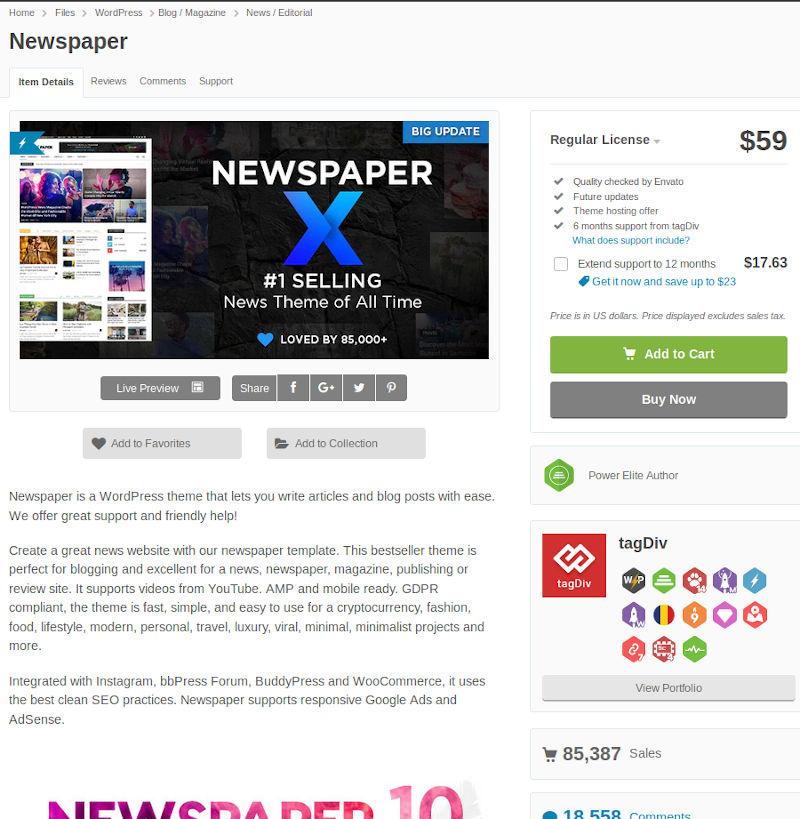 WordPress Newspaper